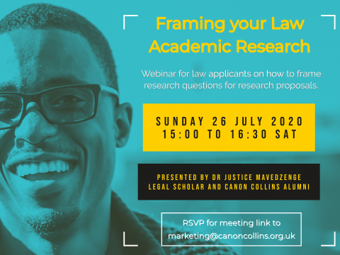 Framing Your Law Academic Research